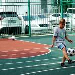 Новая спортплощадка появилась в одном из дворов Хабаровска